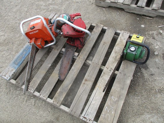5304- PALLET OF (3) CHAIN SAWS