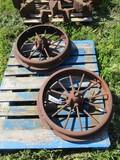 99233 - JOHN DEERE G FRONT STEEL WHEELS