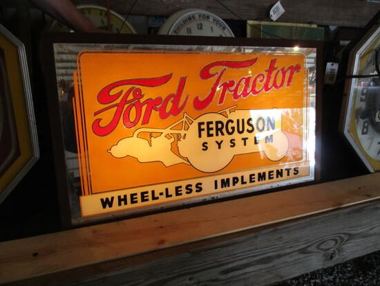 86270-FORD TRACTOR FERGUSON SYSTEM GLASS, SINGLE SIDED SIGN