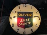 86265-OLIVER GLASS CLOCK
