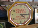 86274-MASSEY HARRIS GLASS CLOCK
