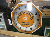 86275-ALLIS CHALMERS LIGHTED, GLASS CLOCK