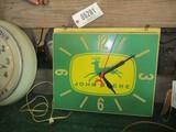 86281-JOHN DEERE PLASTIC CLOCK