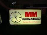 86283-MINNEAPOLIS MOLINE 'WORLD'S FINEST TRACTORS' PLASTIC CLOCK