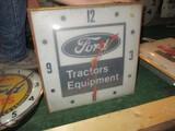 86285-FORD TRACTORS, GLASS CLOCK