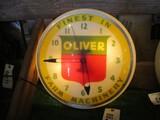 86287-OLIVER 'FINEST IN FARM MACHINERY' PLASTIC CLOCK