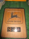 86292-JOHN DEERE 2 LEGGED, PLASTIC CLOCK