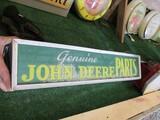 86298-JOHN DEERE GENUINE PARTS LIGHTED SIGN