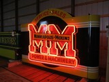 98901-MINNEAPOLIS MOLINE DOUBLE SIDED, NEON,PORCELAIN SIGN