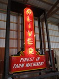 98905-OLIVER 'FINEST IN FARM MACHINERY' NEON SIGN