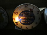 99099-UNIVERSAL ELECTRIC,GLASS CLOCK