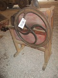 99105-IMPROVED WOODEN, ONE HOLE CORN SHELLER