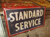 99116-STANDARD SERVICE, DOUBLE SIDED, PORCELAIN SIGN