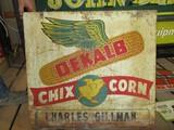 99117-DEKALB CHIX CORN, DOUBLE SIDED, METAL SIGN