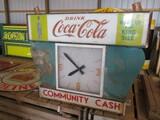 99123-COCA COLA GLASS CLOCK