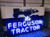 99128-FERGUSON TRACTOR, DOUBLE SIDED, NEON,PORCELAIN