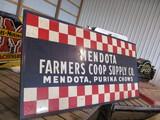 99130-MENDOTA FARMERS COOP METAL SIGN