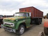 9129- GMC 5000 TRUCK, TANDEM AXLE, V-6, HYDRAULIC BED