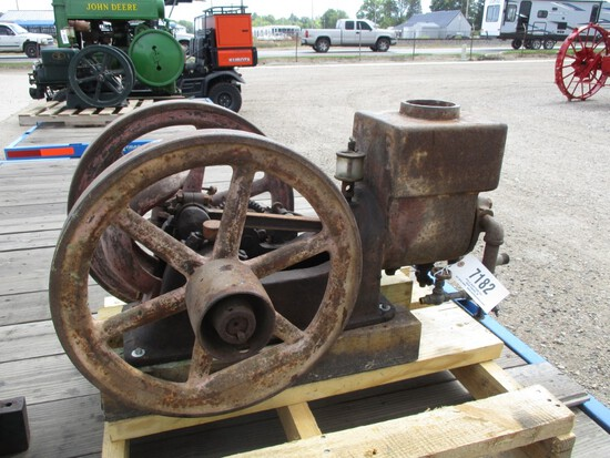 7182-HIT-N-MISS MOTOR, BRAND UNKNOWN