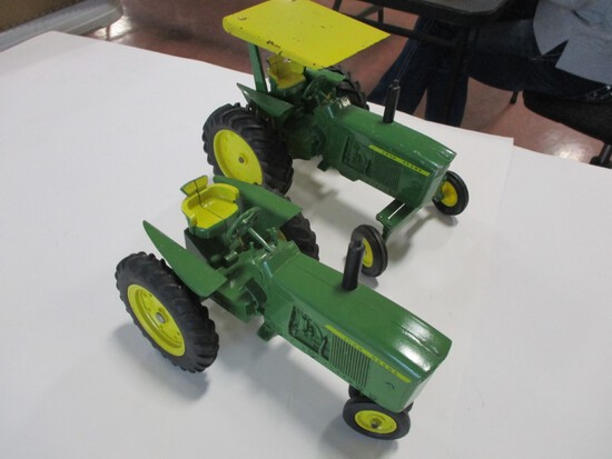 4291-(2) ORIGINAL JD NEW GEN TRACTORS,  1 TRACTOR HAS WIDE FRONT AND ROPS, 1/16TH SCALE