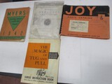 3070-(4) ASSORTED PARTS BOOKS
