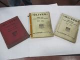 3073-(3) OLIVER PARTS BOOKS