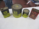 4570-(3) JD PAINT CANS, MARVEL OIL CAN