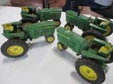 4812-(4)JD NEW GEN TRACTORS, SOME DAMAGE, 1/16TH SCALE