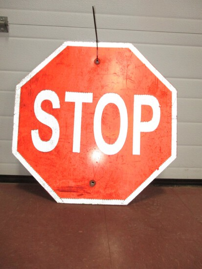 """2934- 24"""" SQUARE (2) STOP SIGNS"""