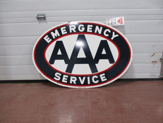 """3595- 24' X 36"""" DOUBLE SIDED PORCELAIN TRIPLE A SIGN"""