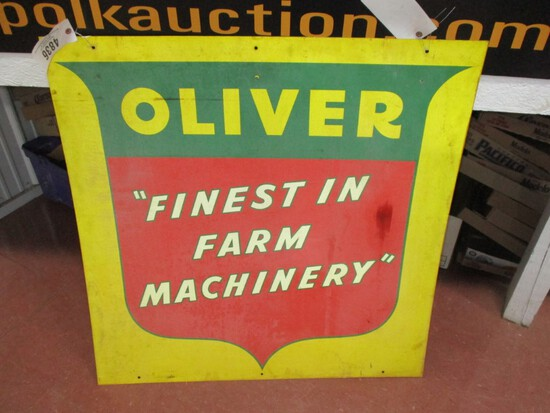 """4836- OLIVER FINEST IN FARM  40"""" X 40"""" DOUBLE SIDED SIGN"""