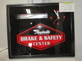2899-  NOS RAYBESTOS SAFETY CENTER CLOCK, LIGHTED ELECTRIC 23