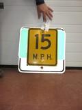2932-(3) VARIED ROAD SIGNS, TIN