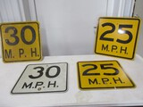2933- (4) SPEED LIMIT SIGNS