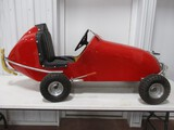 3577- FIBERGLASS PEDAL CAR W/HANDBRAKE