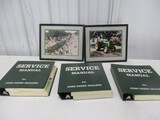 3593- (2) JD PICTURES & (3) SERVICE MANUALS INCLUDING: 6030, 3020, & 3010