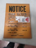 4455- ROAD CLOSED PAPER SIGNS (10) QTY