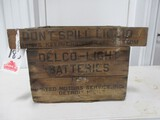 4566- DELCO BATTERIESWOODEN CRATE