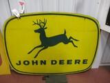 4837- 4 LEGGED JOHN DEERE  SIGN SINGLE SIDED ON WOOD FRAME 42