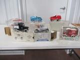 5014- (6) VARIOUS DIE CAST TOY CARS/BANKS