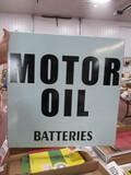 5047- 24' SQUARE MOTOR OIL SINGLE SIDED PORCELAIN