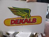 5405-(3) SIGNS; DOUBLE SIDED DEKALB/ASGROW, PLASTIC DEKALB & PLASTIC STEWART