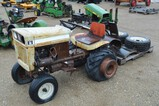 3271- BOLENS LAWN TRACTOR W/WISCONSIN ENGINE, TILLER, PLOW AND EXTRA TIRES, NOT RUNNING