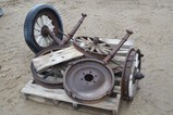 4362- WOOD SPOKED WHEELS AND AXLE