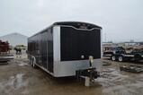 5515-  26' HAULMARK 14000 LB. ENCLOSED TRAILER W/RAMP DOOR, HAS TITLE, INCLUDES WINCH, TIEDOWNS AND