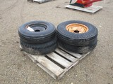 5724- (4) TIRES AND RIMS