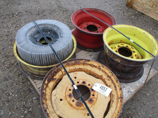 4852-PALLET OF MISC TRACTOR RIMS
