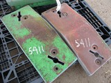 5411-(2) JD FRONT WEIGHTS, 2X THE MONEY
