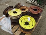 5441-(12) MISC FRONT TRACTOR RIMS