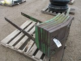 5473-JD DOUBLE STACK FRONT WEGHT, W/ BRACKETS, (10) ADDITIONAL PADS, ALL ONE MONEY